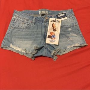 Classic-Rise Distressed Frayed Shorts